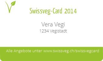 Swissveg-Card / Mitgliederausweis: Vorderseite