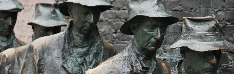 Bronzeskulptur Arbeitslose