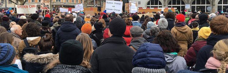 Manifestation pour le climat en février 2019 à Zurich
