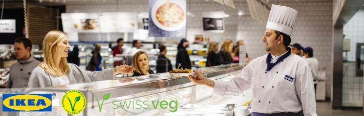 IKEA serviert Swissveg-zertifizierte V-Label-Menüs